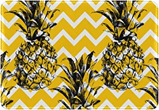Mydaily Pineapple Chevron Zigzag Tropical Leather Passport Holder Cover Case Protector