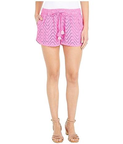 Vineyard Vines Wave Eyelet Pull-On Shorts (Pink Wave) Women