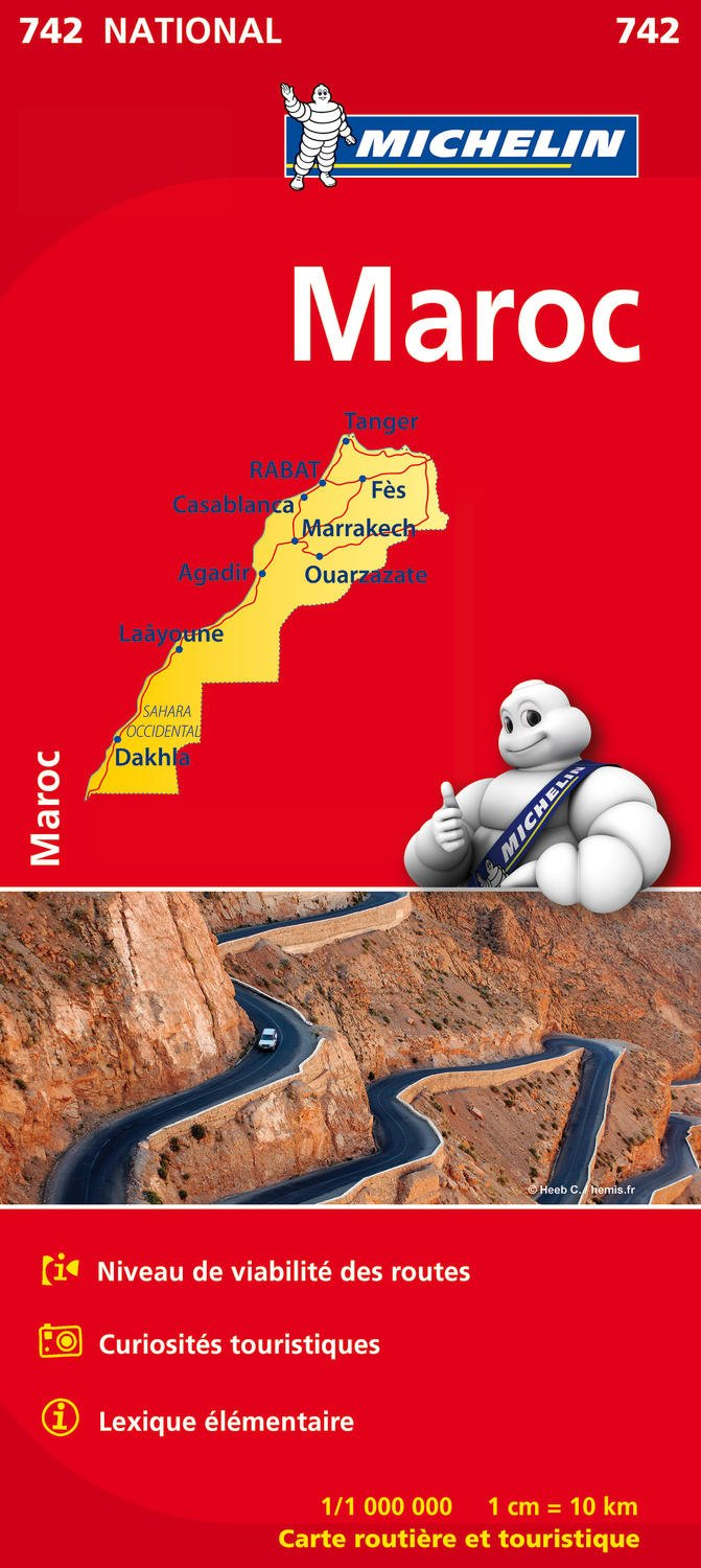 Image OfCarte NATIONAL Maroc Michelin