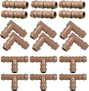 Arfun Drip Irrigation Fittings Kit for 1/2