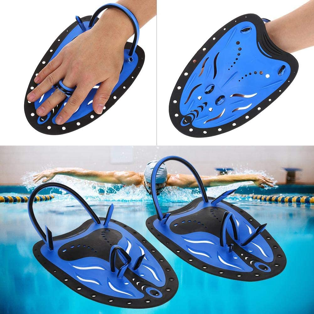1Pair PP and TPR Swimming Diving Hand Fins Paddles Webbed Training Fin Scuba Equipment Biuzi Hand Fins
