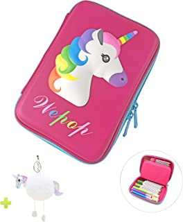 Pencil Case, iDelta 3D Cute EVA Unicorn Pen Pouch Stationery Box Anti-Shock Large Capacity Multi-Compartment for Girls School Students Teens Kids