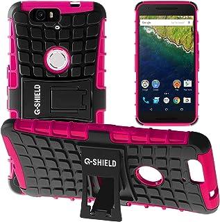 G-Shield Funda para Huawei Google Nexus 6P, Carcasa Protectora Anti-Arañazos con Soporte, Rosa