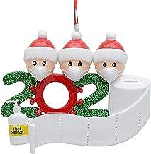 YAJONUE Christmas Ornament Quarantine Personalized 2020 Christmas Pendant Kit Customized Survived Family Name Hanging Orna...