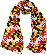 Route One Apparel | Satin Maryland Flag Scarf
