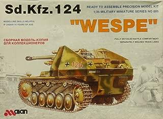 Alan 1:35 German Wespe Sd.Kfz.124 Self Propelled Gun Plastic Model Kit #005X