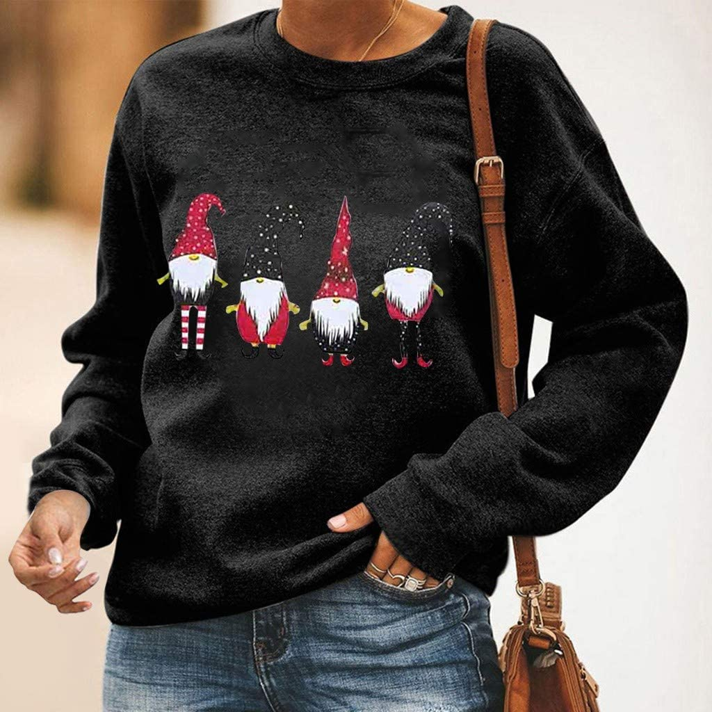 Portazai Pullover Sweatshirt for Women Long Sleeve Horse Graphic Sweatshirts Tops Casual Loose Blouse Shirts Sweaters