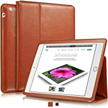 KAVAJ Case Leather Cover Berlin Works with Apple iPad 4, iPad 3, iPad 2 Cognac Brown Genuine Cowhide Leather with Built-in...