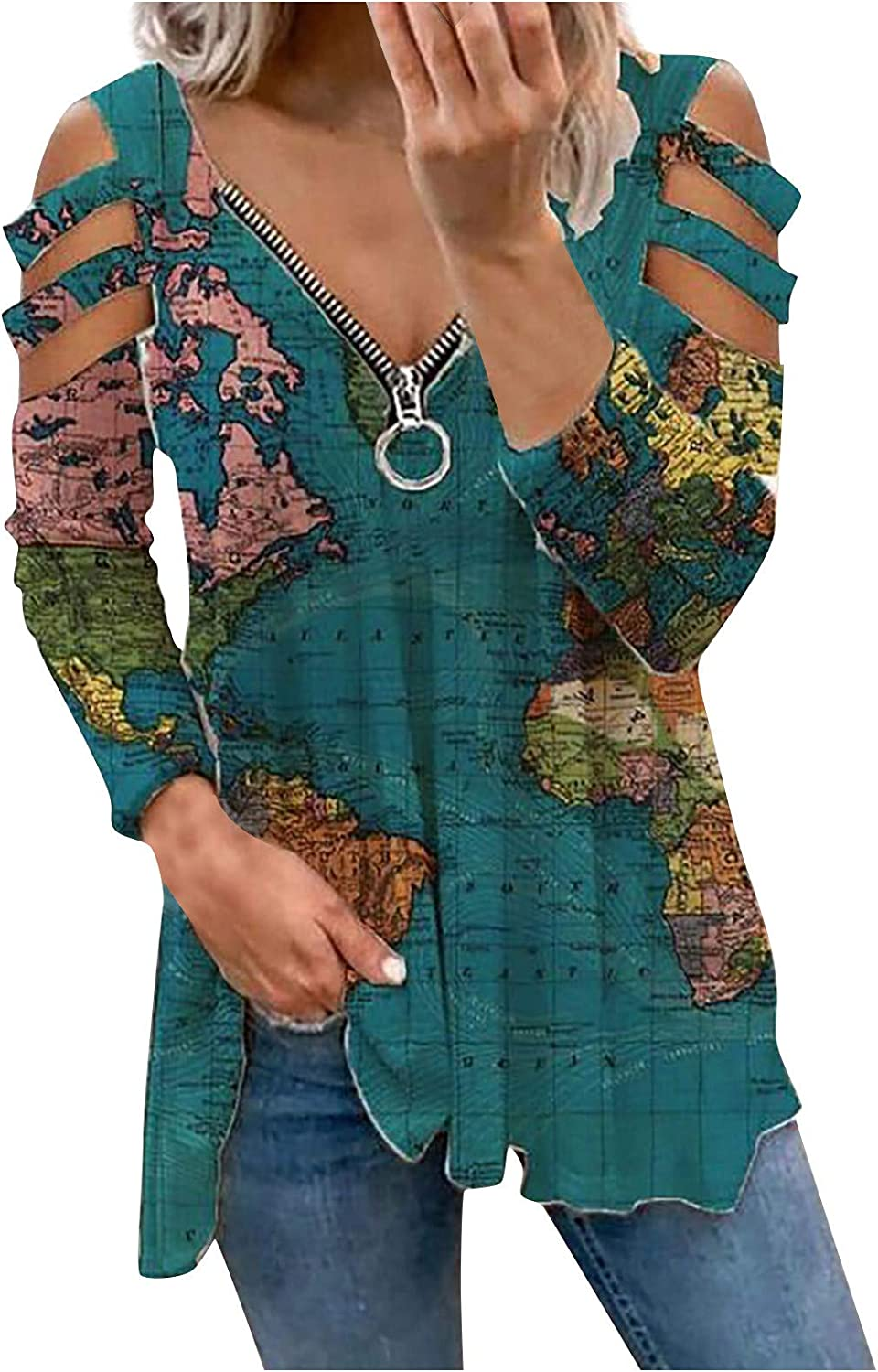 Womens Summer Tops,Women's Tops Casual Pullover Comfy Tunic Cute Printed Blouses Loose Casual Shirts Tees