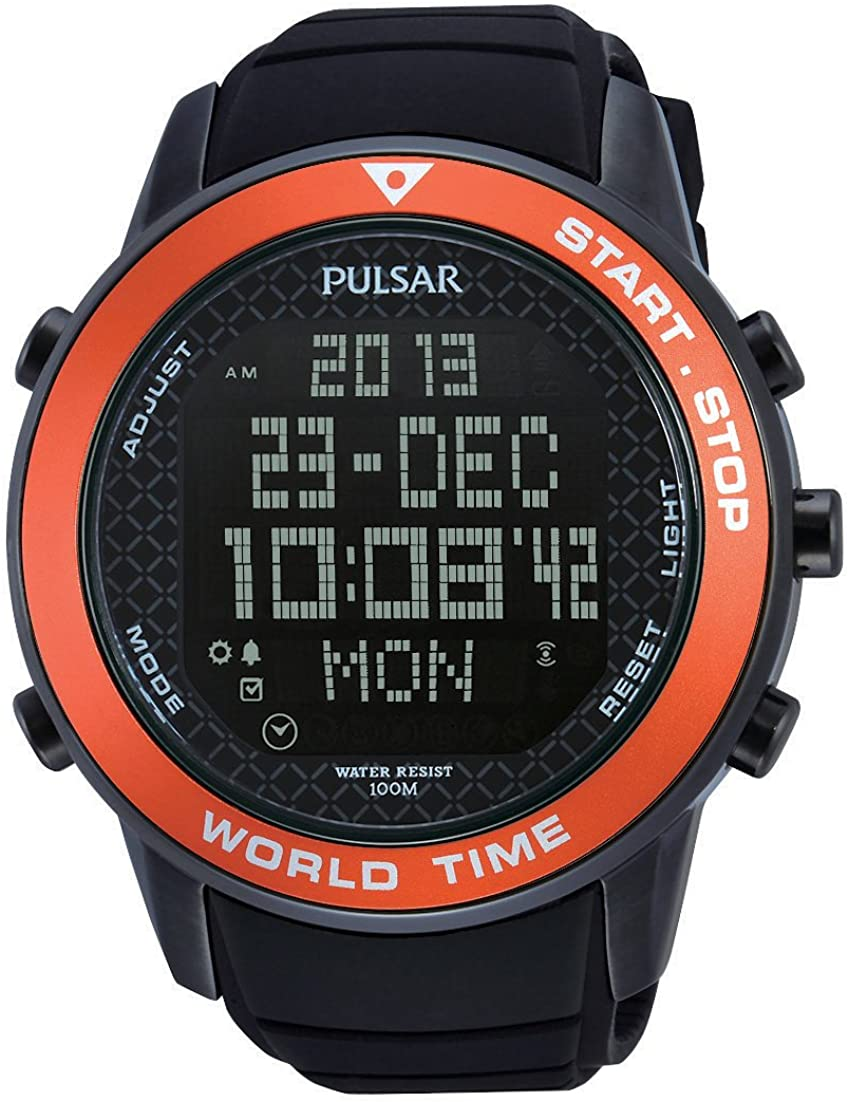 Pulsar Reloj de Cuarzo para Hombre con Correa de Goma – PQ2031X1