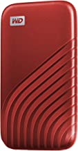 WD 1TB My Passport SSD External Portable Solid State Drive, Red, Up to 1,050 MB/s, USB 3.2 Gen-2 and USB-C Compatible (US...