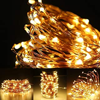 YIKBOOK 100 LED Copper Wire Lights, Warm White Decorative String Lights for Party, Wedding, Garden and More