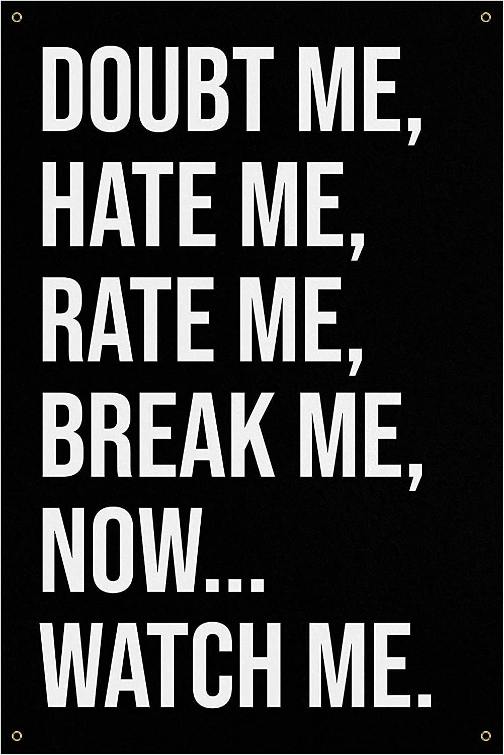Doubt Me Hate Banner - Sales of SALE items from new works Home Quotes Gym At the price Art Wall Large Decor