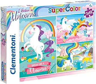 Clementoni - Puzzle - Unicorno Brilliant - 3 x 48 Pièces- 25231