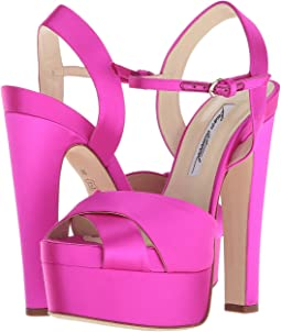 d9a550c32fb ... Heeled Sandals · Brian Atwood · Women. Luxury. Fuxia Satin