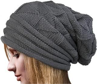 Leoy88 Women Winter Crochet Hat Beanie Warm Caps