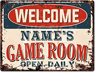 personalised games room sign