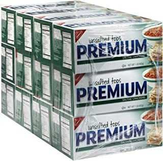 Nabisco Unsalted Premium Saltine Crackers 16 oz (Pack of 12)