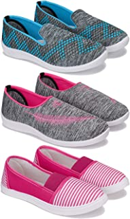 SWIGGY Sneaker, Loafer (Walking) Washable Multicolor Shoes for Women Pack of 3Combo(O)-3217-1543-1274