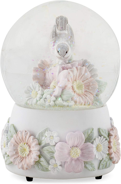 DEMDACO Chickadee Ranking TOP7 Flowers Pastel Musical 2021 model Snow Y Tune Plays Globe
