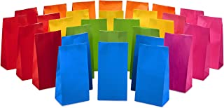 Hallmark Solid Color Party Favor and Wrapped Treat Bags (30 Ct., 5 Each of Blue, Red, Green, Yellow, Orange, Pink) for Birthdays, Baby Showers, Crafts and More