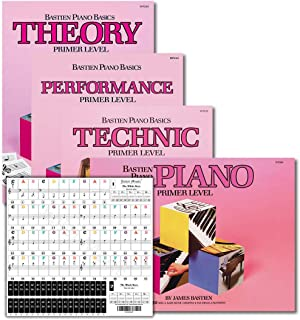 Bastien Piano Basics Primer Level Learning Set By Bastien - Lesson, Theory, Performance, Technique & Artistry Books & Juli...