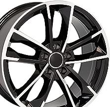 OE Wheels 18 Inch Fits Volkswagen CC Beetle Audi A3 A8 A4 A5 A6 TT RS6 Style AU31 18x8 Rims Gloss Black Machined SET