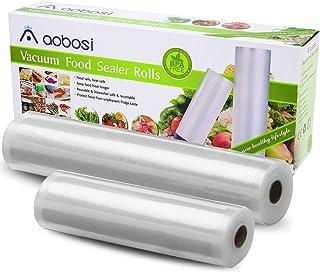 Aobosi Rollos Envasado al Vacío Bolsas Envasado al Vacío 28x600cm y 20x600cm Rollos para Sous Vide BPA Gratis y LFGB Aprobado