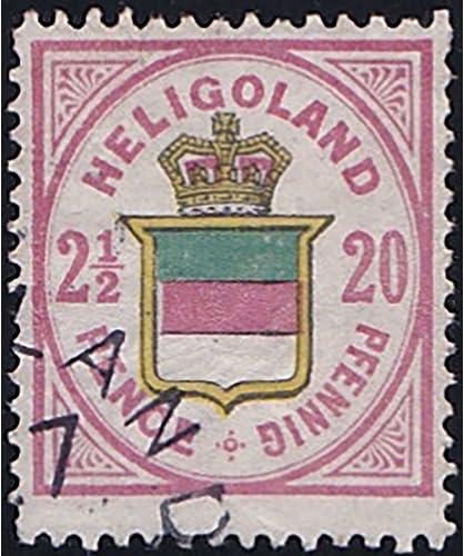 Goldhahn Helgoland Nr. 18 c gestempelt geprüft Briefmarken für Sammler