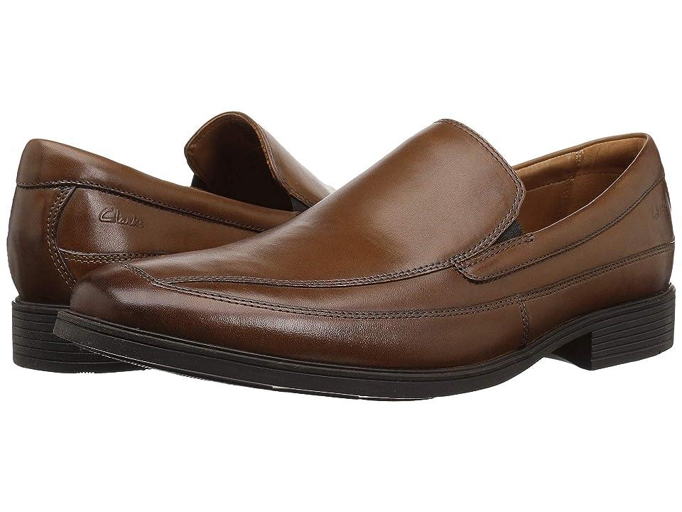 Clarks Tilden Free (Dark Tan Leather) Men