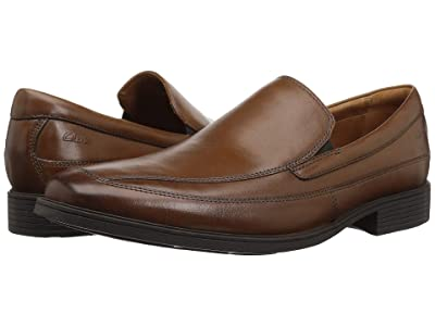 Clarks Tilden Free (Dark Tan Leather) Men