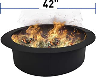 EasyGoProducts EGP-GARD-025 EasyGo Ring – Solid Steel DIY Fire Pit Liner – Heavy Duty – Black Color – Above Ground or in Ground-42 Inch Outsi, 42