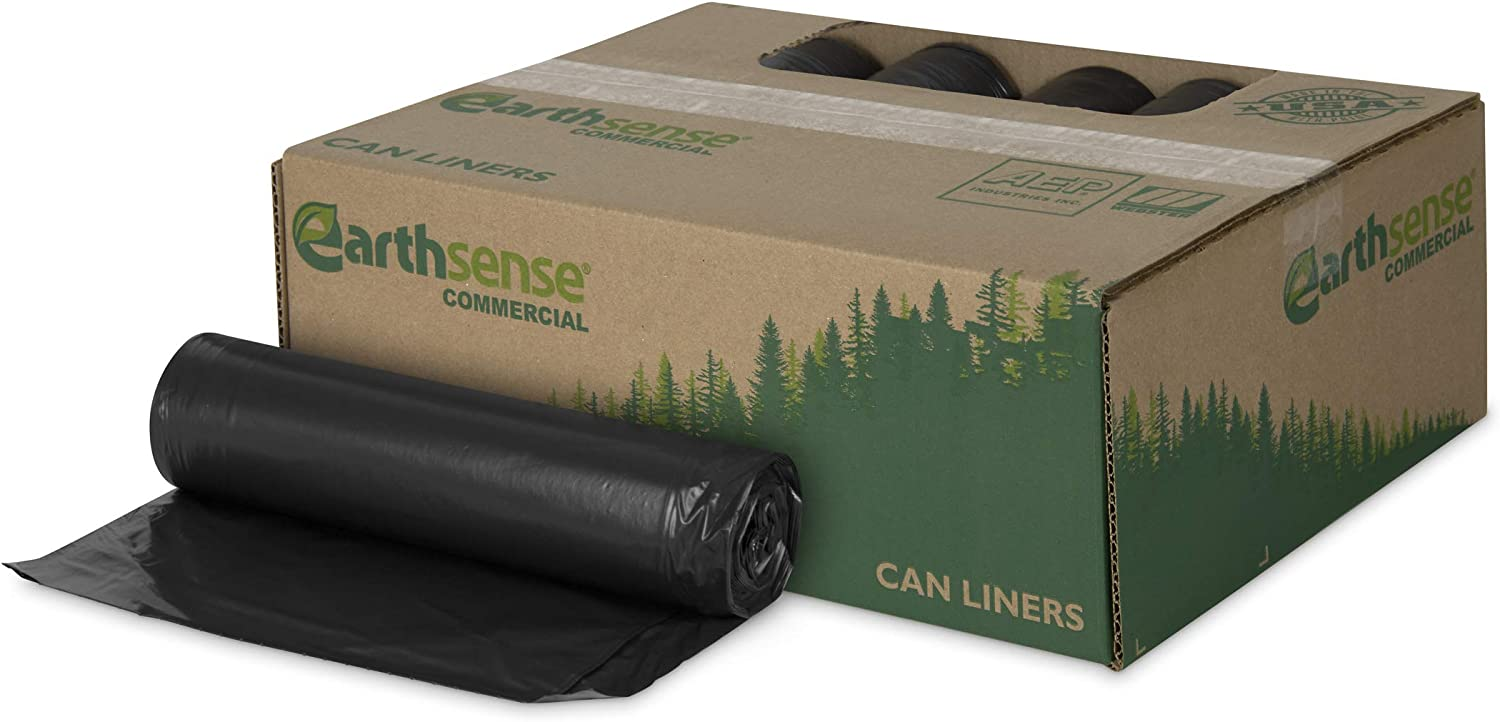Max 70% OFF Earthsense Commercial It is very popular RNW4050 Can Liner 31-33 Gal 1.25 33x39 m