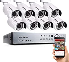 16 Channel Security Camera System, Hybrid 1080N 16CH DVR Recorder with 8 x 720P Wired AHD IP65 Waterproof Surveillance Bullet Cameras Outdoor Indoor with Day Night Vision