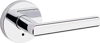 Kwikset 91550-004 Milan Door Handle Lever with Modern Contemporary Slim Round Design for Home Bedroom or Bathroom Privacy in Polished Chrome