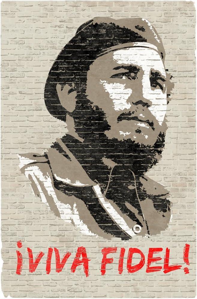 Viva Fidel Castro Graffiti Cool Wall Decor Art Print