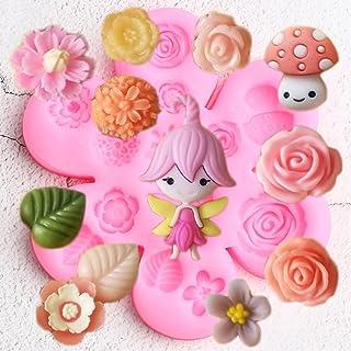 XRZH Fée Jardin Silicone Moules Rose Fleur Cupcake Fondant Moule Bébé Anniversaire Gâteau Décoration Outils Bonbons Chocol...