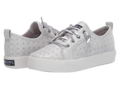 Sperry Kids Crest Vibe (Little Kid/Big Kid) (Silver Perf) Girls Shoes