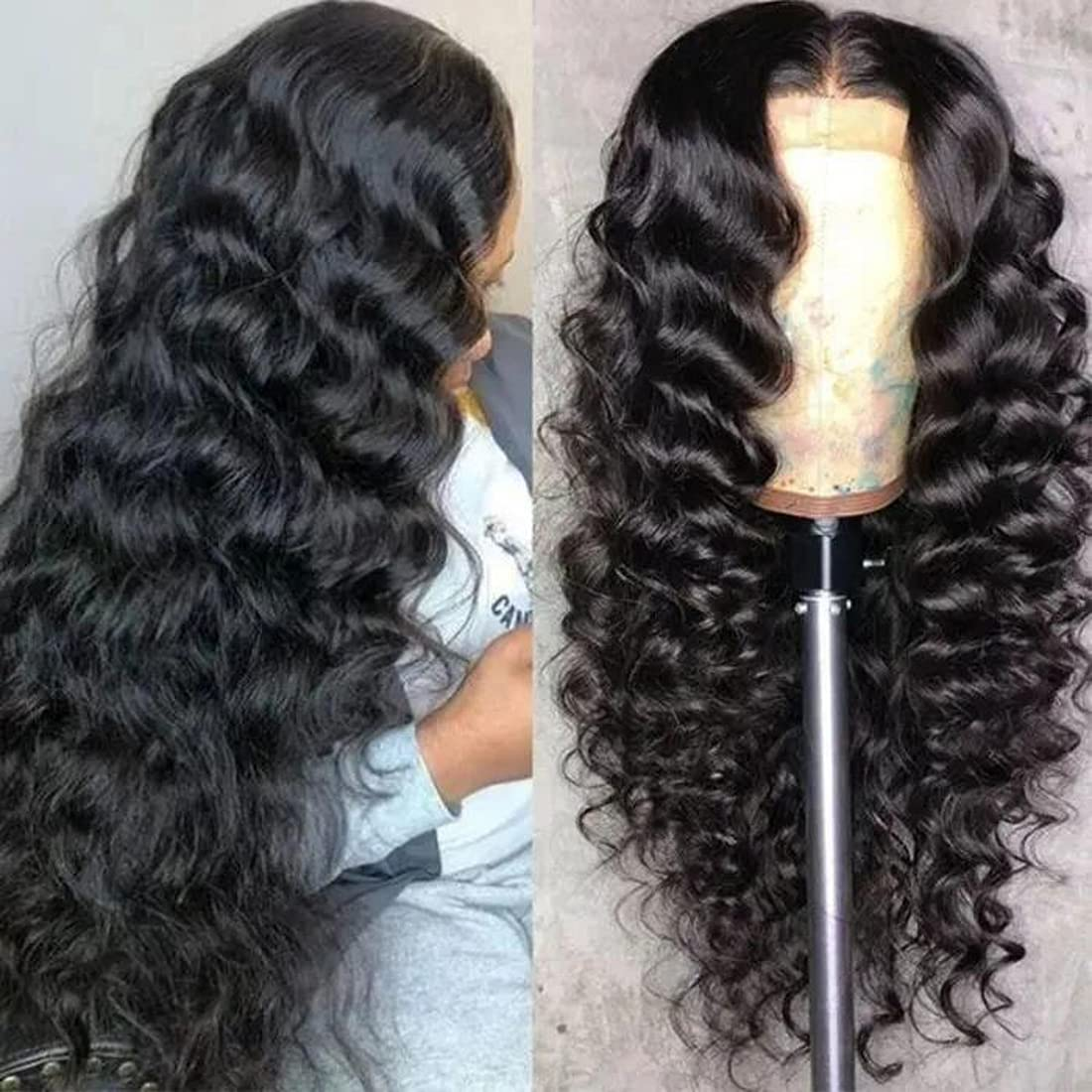 UNICE Wand Curl Body Wave 13x4 Human Lace Front Max 75% OFF Houston Mall Transparent Wigs