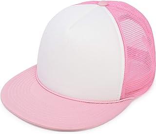3a2731590 DALIX Flat Billed Trucker Cap with Mesh Back M L XL Adjustable Hat (in 14  Colors