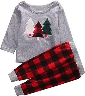 2Pcs Kids Toddler Baby Girl Boy Christmas Outfit, Long Sleeve Sweater Tops+Long Pants Set