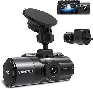 Vantrue N4 Dash Cam 3 Channel 1440P Front & 1080P Inside & 1080P Rear Triple Dash Camera with Infrared Night Vision, Super...