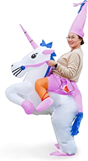 Linsion Unicorn Costume Inflatable Suit Halloween Cosplay Fantasy Costumes Adult/Kids