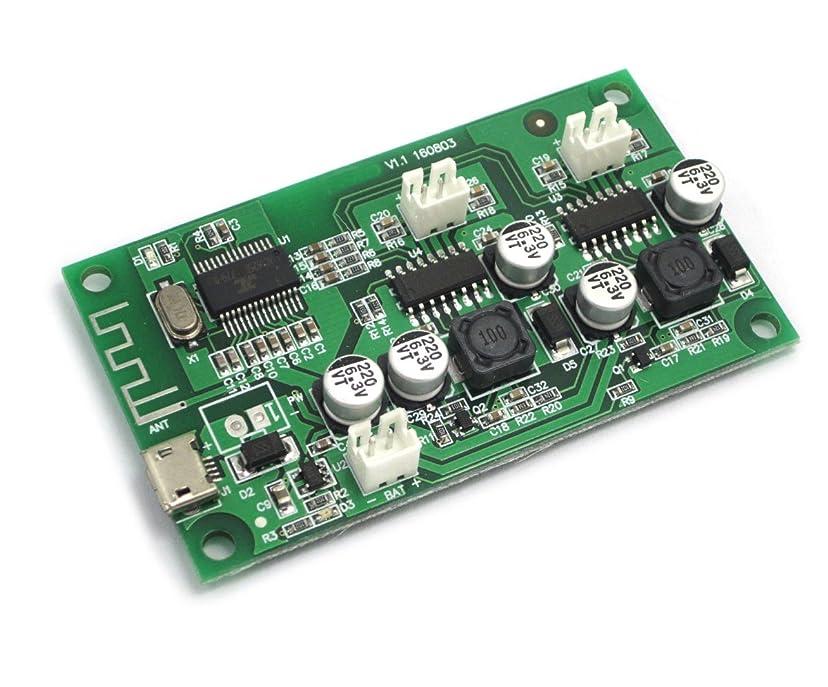 浸食柔和公然とWINGONEER 2x6WステレオBluetoothオーディオレシーバーDC 3.7V / 5Vデュアルチャンネルオーディオパワーアンプボード(Bluetoothスピーカー用)