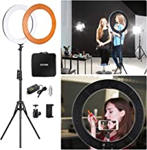"ZOMEI Right Light Kit,Ring Light with Stand,18"" LED Dimmable Ring Light for Beauty.."