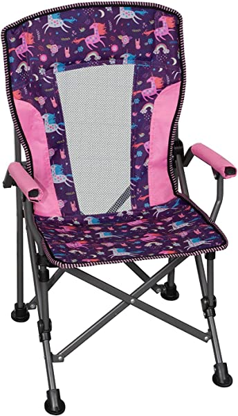 Member S Mark Kids Folding Portable Light Weight Arm Chair With Matching Storage Bag Carrying Strap Unicorn