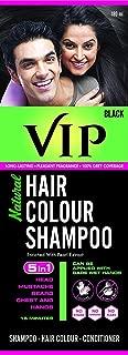 VIP Natural Black Hair color shampoo, 180ml, Amonia free, for men and women