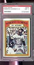 1972 Topps #310 Roberto Clemente In Action NM PSA 7 Graded Baseball Card