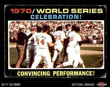 1971 Topps Regular (Baseball) card#332 World Series Summay of the - Undefined - Grade Good