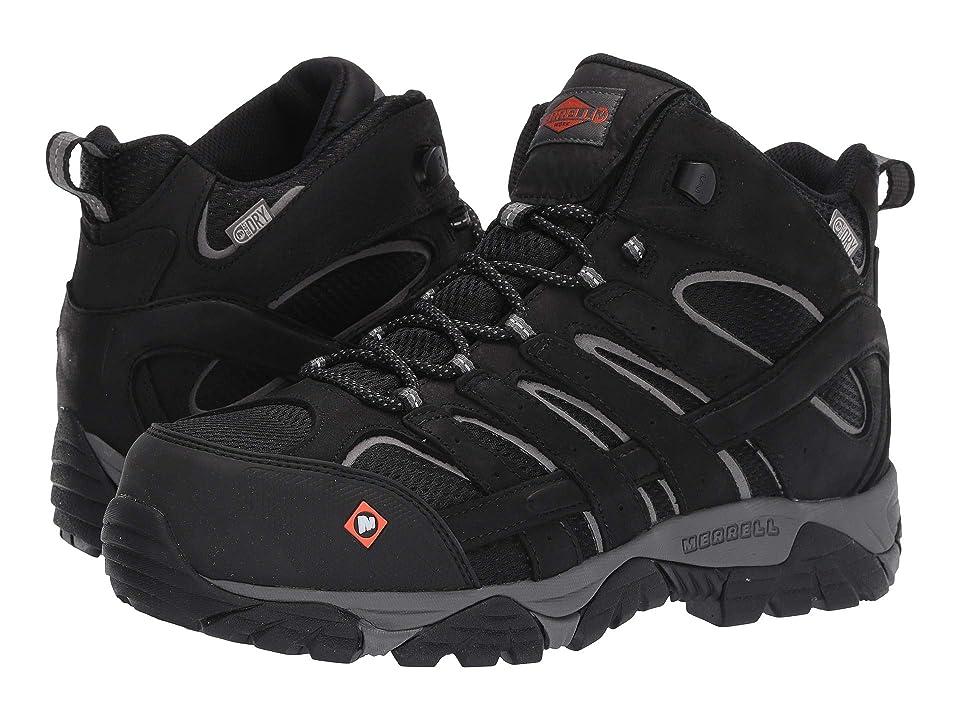 Merrell Work Moab Vertex Mid Waterproof Composite Toe (Black) Men